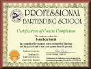 Bartending Certification